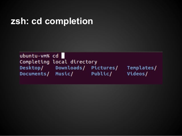 zsh: cd completion