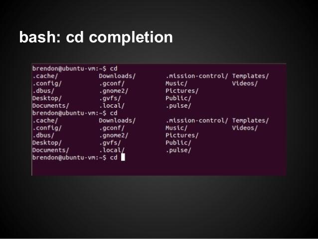bash: cd completion