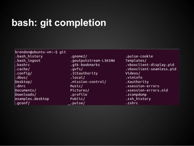 bash: git completion