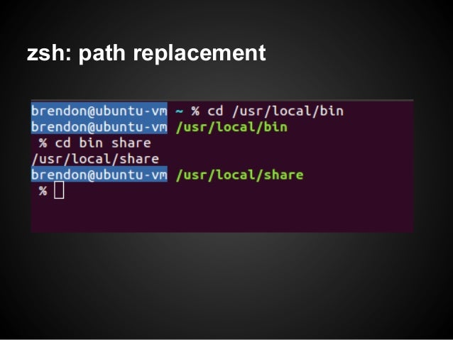 zsh: path replacement