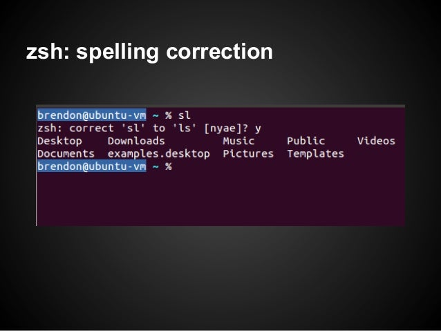 zsh: spelling correction