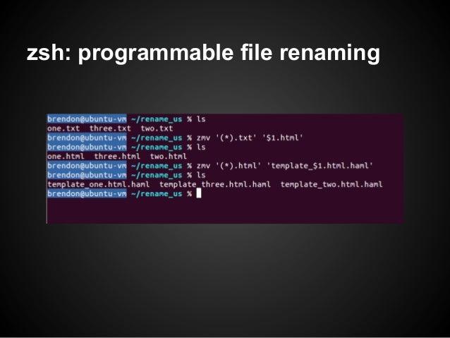 zsh: programmable file renaming