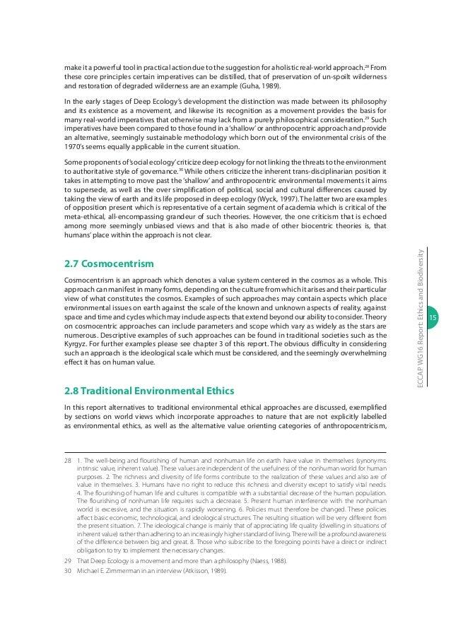 Ethics and biodiversity