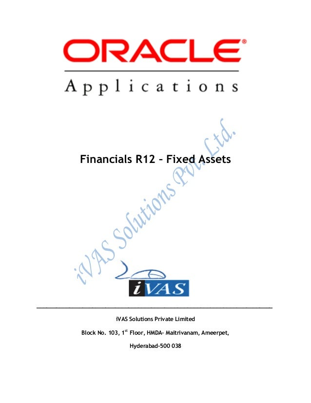 Oracle Fixed assets ivas