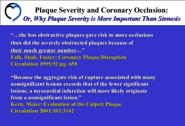 Plaque Severity and Coronary Occlusion:Plaque Severity and Coronary Occlusion: Or, Why Plaque Severity is More Important T...