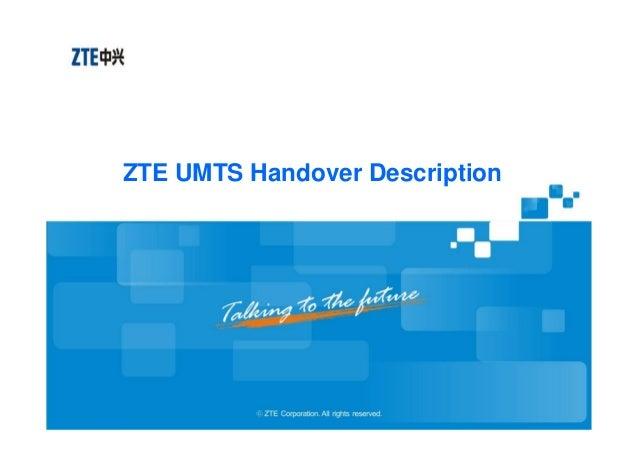 ZTE UMTS Handover Description