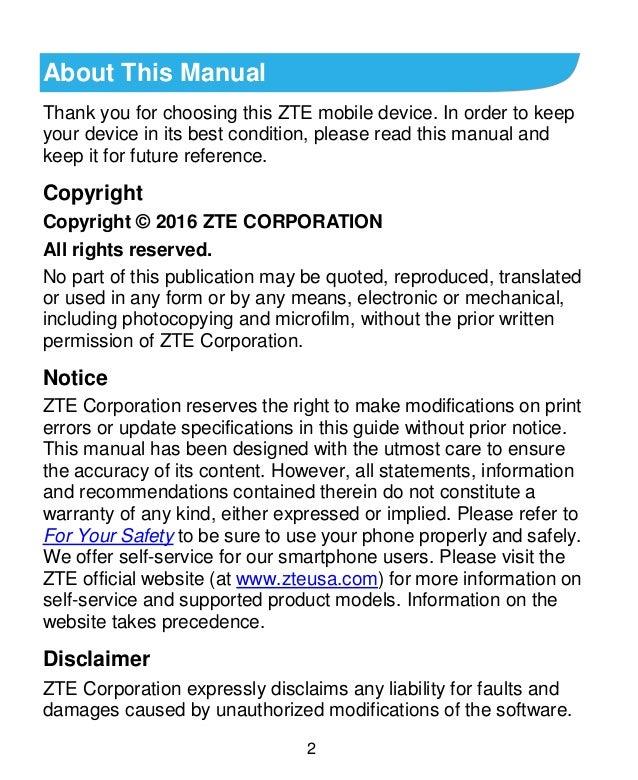 ZTE Axon 7 Manual/User Guide Slide 2