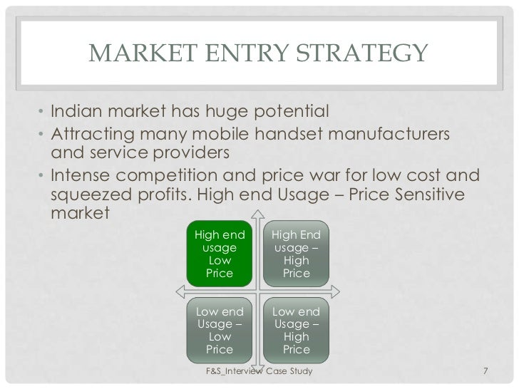 Sample Market Entry Analysis