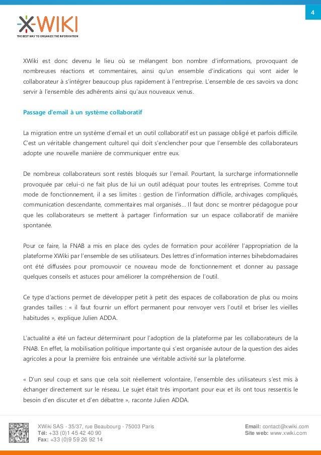 XWiki SAS - 35/37, rue Beaubourg - 75003 Paris Tél: +33 (0)1 45 42 40 90 Fax: +33 (0)9 59 26 92 14 Email: contact@xwiki.co...