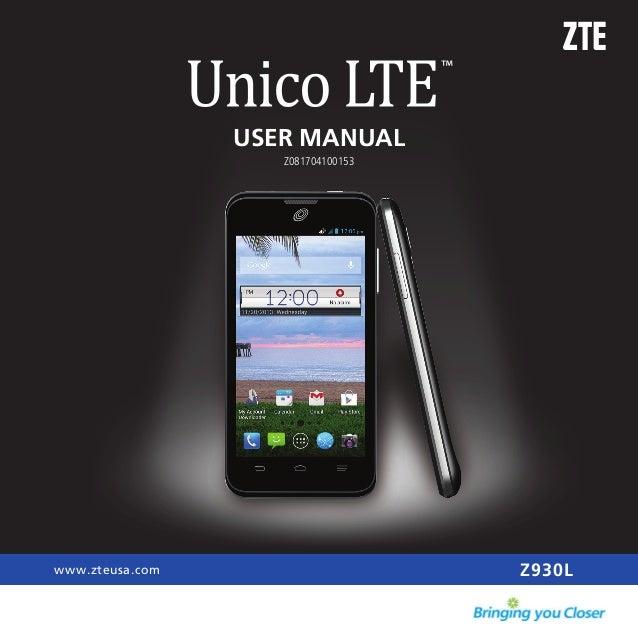 USER MANUAL Z930Lwww.zteusa.com Z081704100153