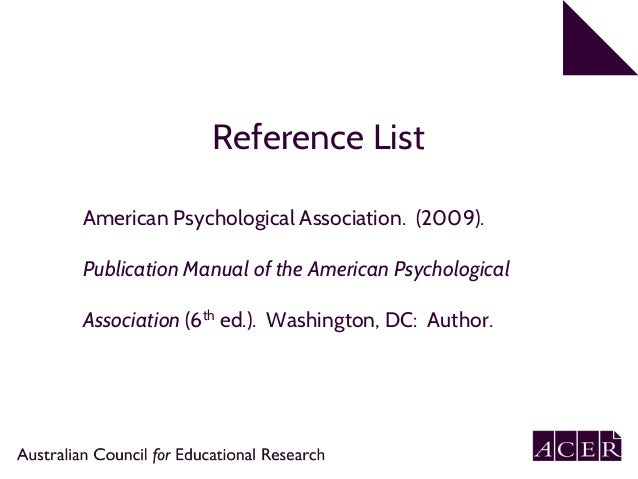 apa 6th edition referencing part 1 in text citation rh slideshare net publication manual of the american psychological association apa (6th ed.) publication manual of american psychological association - (apa)