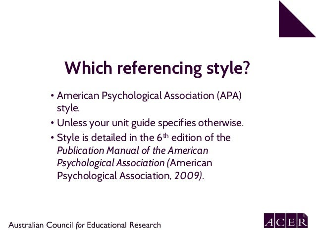 apa 6th referencing style