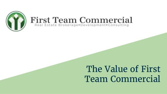 The Value of First Team Commercial