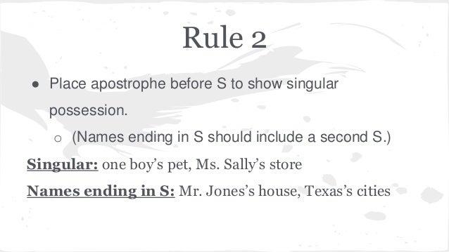 Grammar Presentation Apostrophes