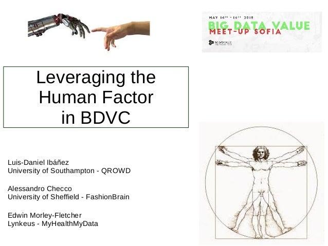 Leveraging the Human Factor in BDVC Luis-Daniel Ibáñez University of Southampton - QROWD Alessandro Checco University of S...