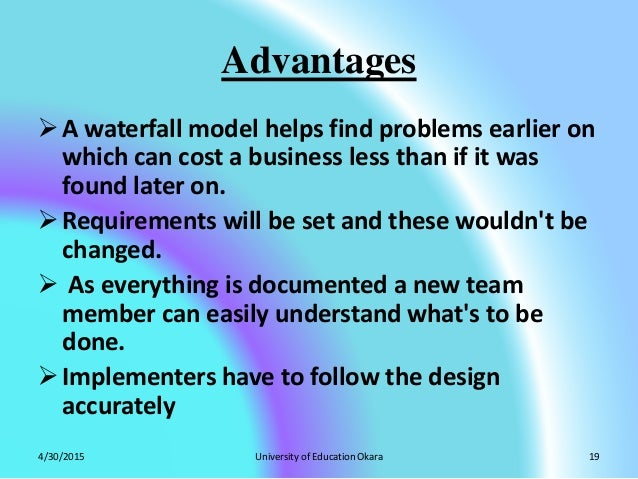 Waterfall model by zubair yaseen for Waterfall methodology advantages and disadvantages