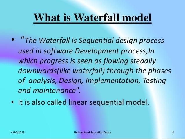 Waterfall model by zubair yaseen for Waterfall design phase