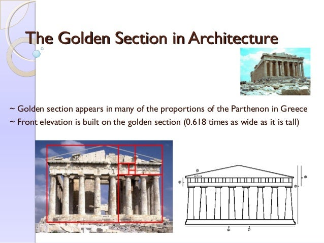 Golden Section Architecture golden section