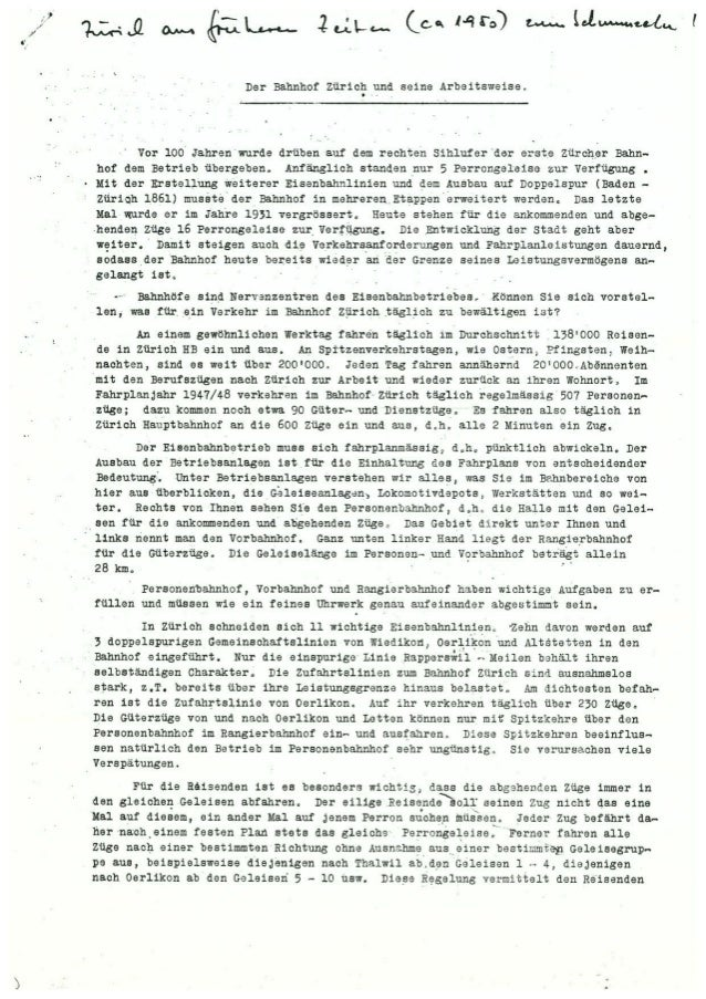 Zürich HB vor 60 Jahren
