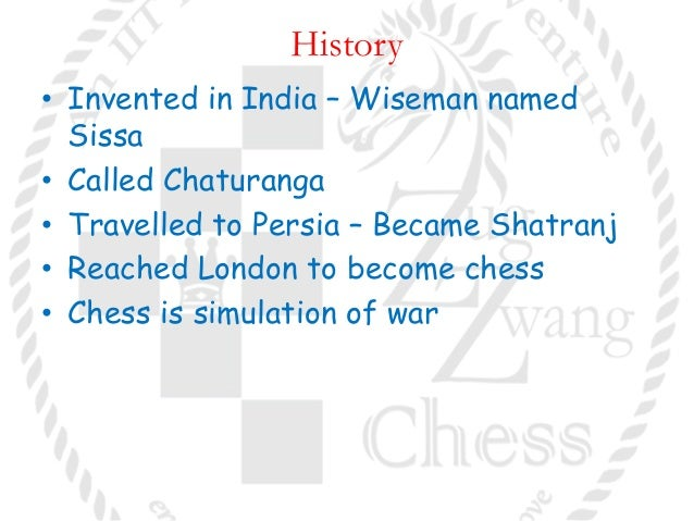 history of chess A history of chess by harold james ruthven murray, published in 1913 by clarendon press, oxfordwikipedia article about this book.