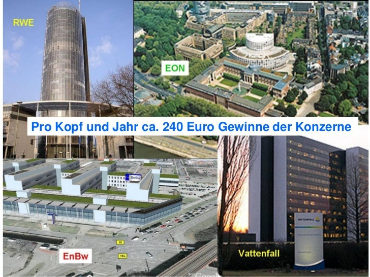 Pro Kopf und Jahr ca. 240 Euro Gewinne der Konzerne