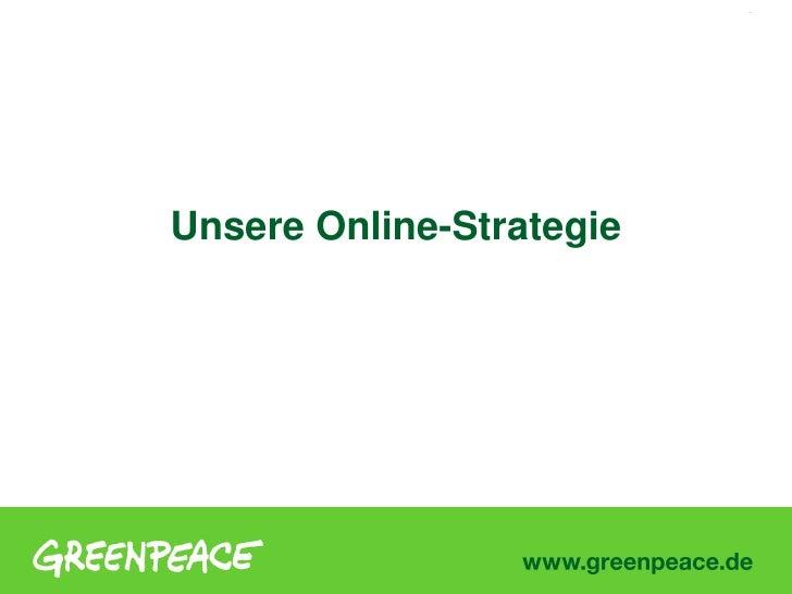 1     Unsere Online-Strategie
