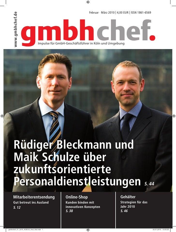 Februar · März 2010 | 4,00 EUR | ISSN 1861-6569 www.gmbhchef.de                       Impulse für GmbH-Geschäftsführer in ...