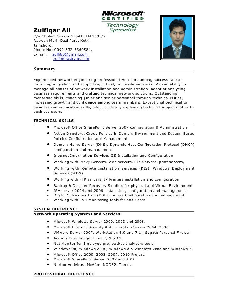 windows system engineer resumes