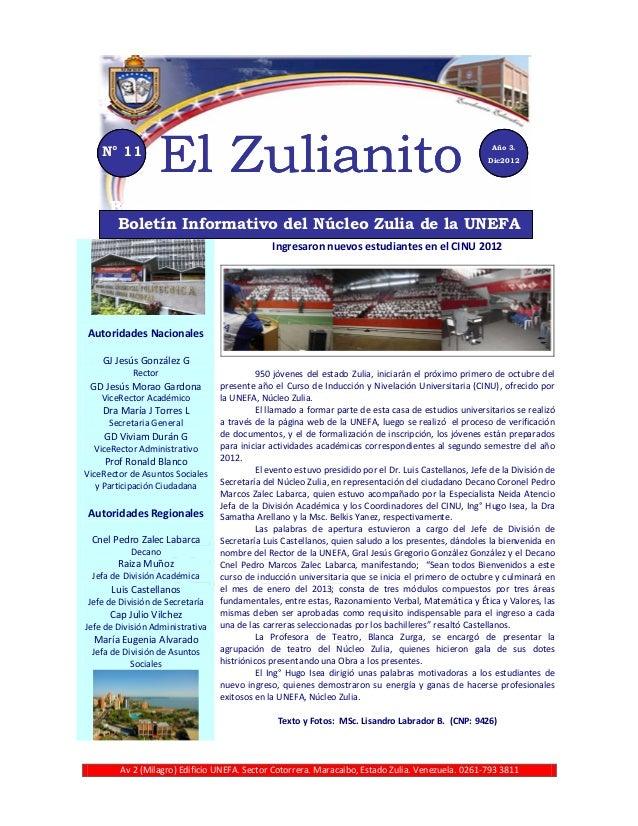 N° 11                     El Zulianito                                                                        Año 3.      ...
