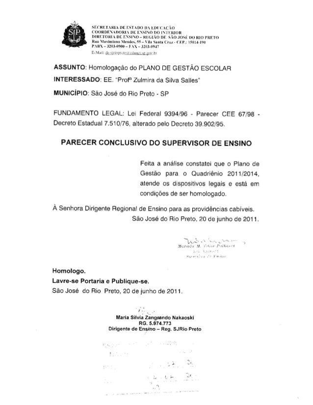 Plano Gestão EE Profa Zulmira S Salles