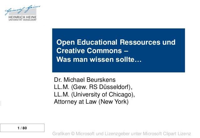 Grundlagen  Urheberrecht  Lizenzen  Open Educational Ressources und Creative Commons – Was man wissen sollte…  Open Access...