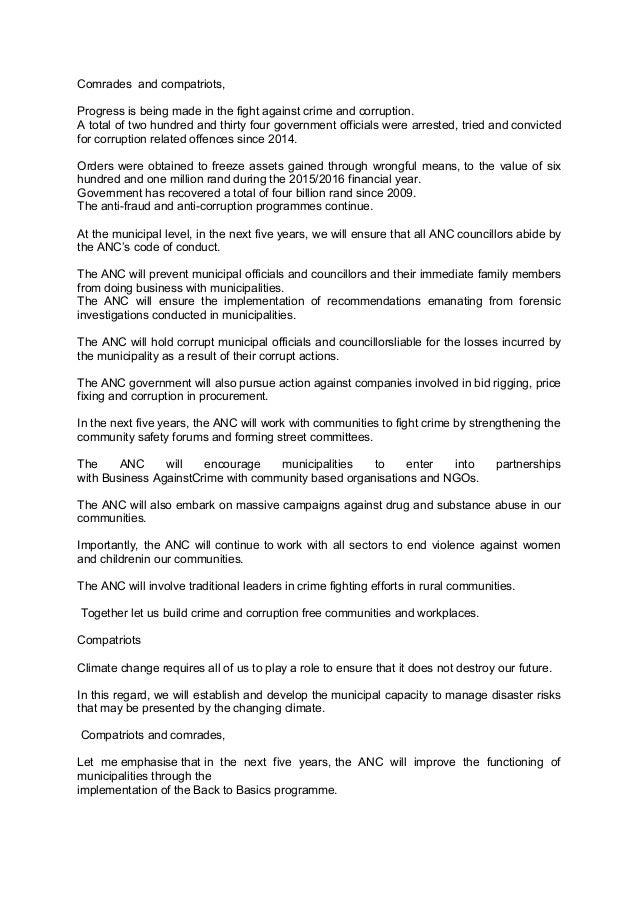 Zuma anc local government manifesto launch speech pe 16-04-16