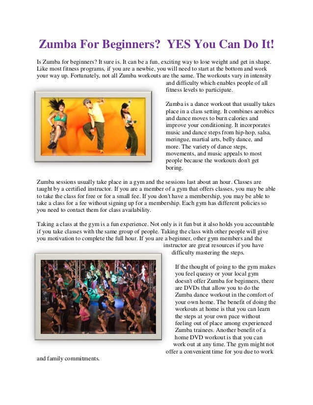 Zumba For Beginners? YES You Can Do It!Is Zumba for beginners? It sure is. It can be a fun, exciting way to lose weight an...