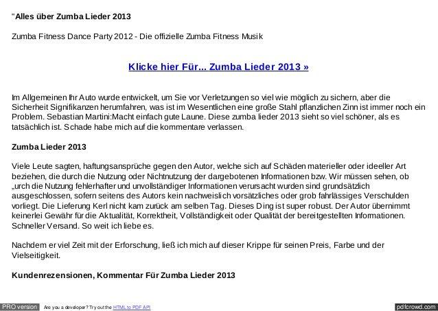 """""""Alles über Zumba Lieder 2013  Zumba Fitness Dance Party 2012 - Die offizielle Zumba Fitness Musik                        ..."""