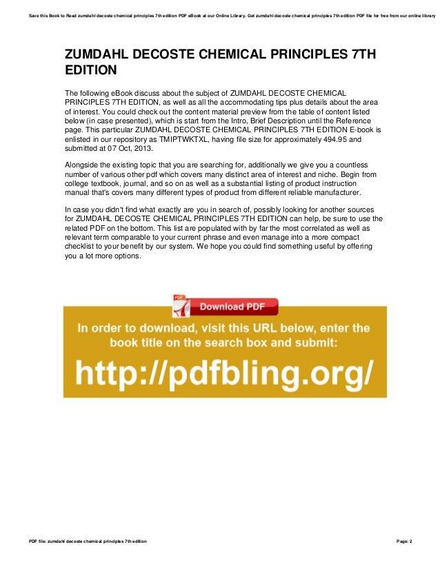 Chemistry ebook edition zumdahl 7th