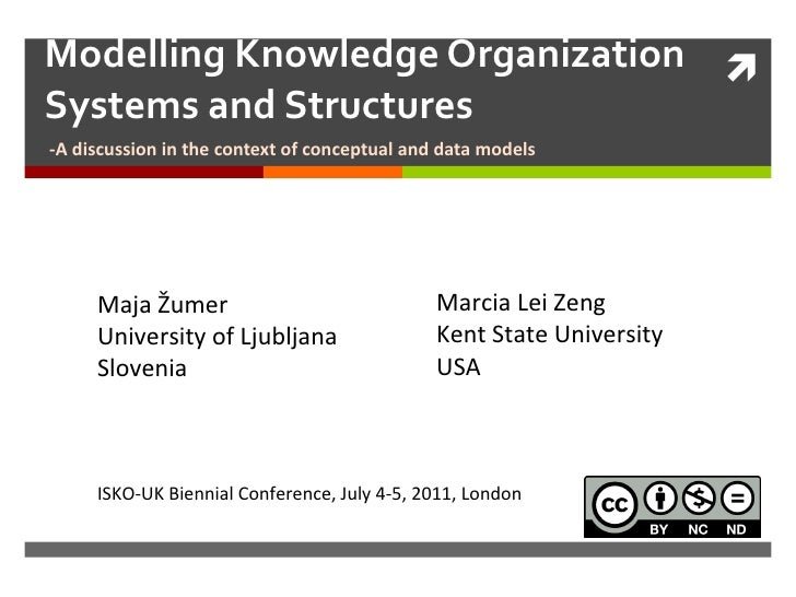 Modelling Knowledge Organization Systems and Structures -A discussion in the context of conceptual and data models Maja Žu...