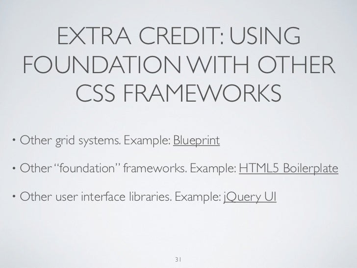 Getting started with css frameworks using zurb foundation foundations 30 31 malvernweather Images