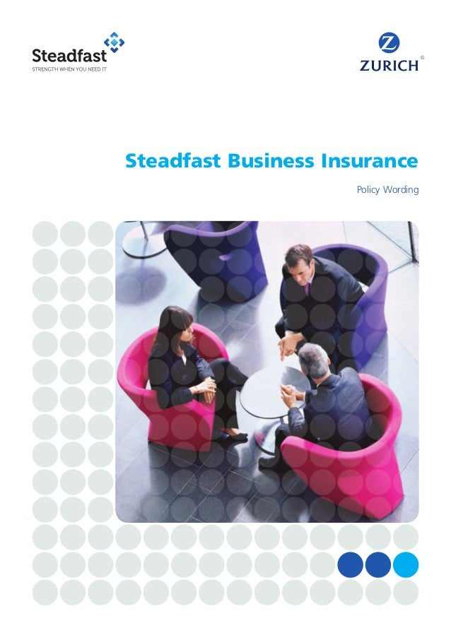 Policy Wording Steadfast Business Insurance ...