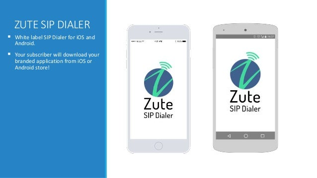 Zute Sip Dialer - White Label SIP Dialer for iOS and Android
