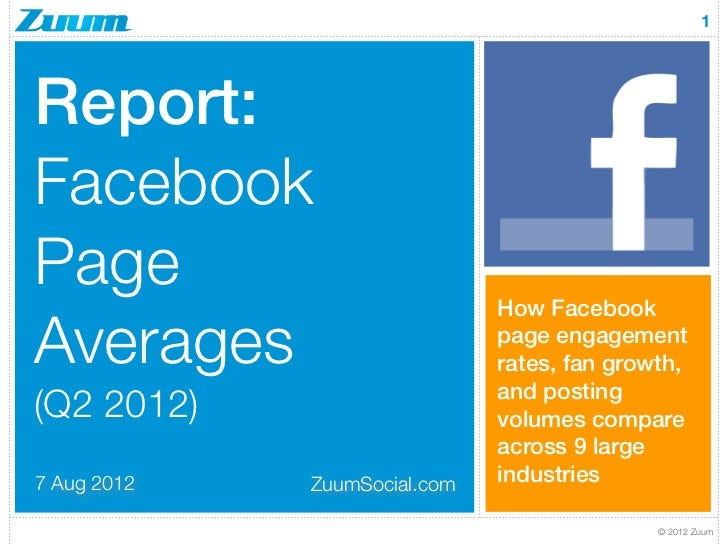 1Report:FacebookPage                          How FacebookAverages                      page engagement                   ...