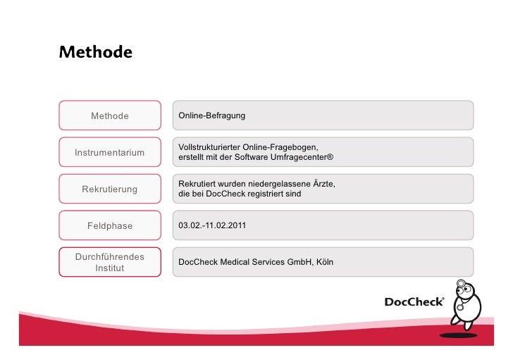 Online Studie zur Zuweiserbefragung 2011 Slide 2