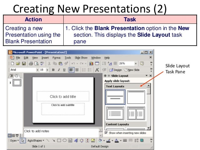 Introduction to microsoft powerpoint 2003 14 creating new presentations toneelgroepblik Image collections
