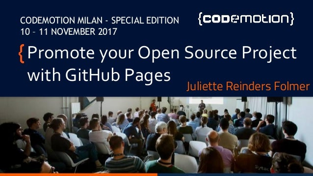 Juliette Reinders Folmer - Promote your open source project