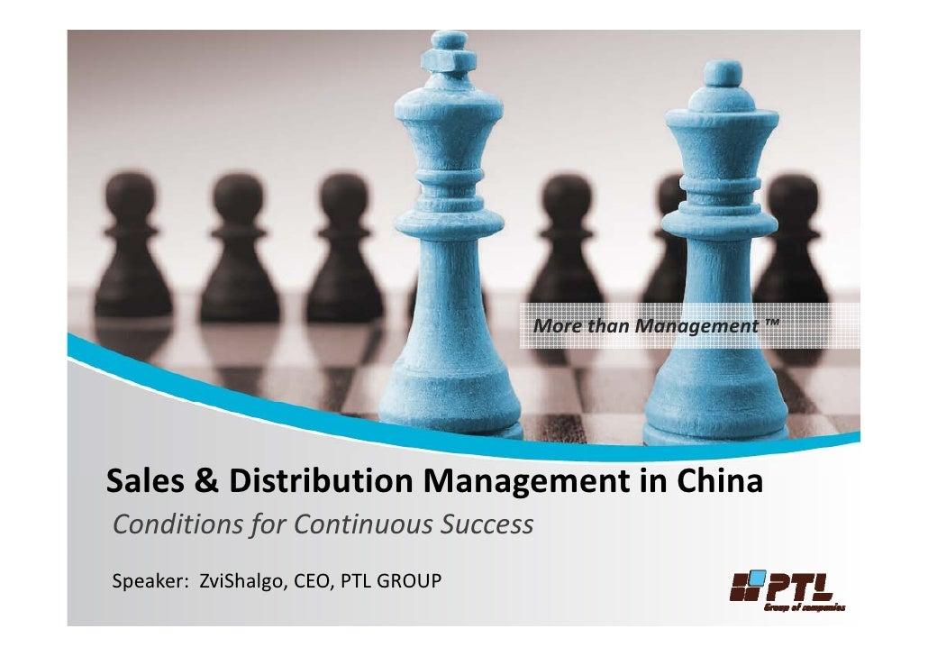 MorethanManagement                                       More than Management ™     Sales&DistributionManagementin...