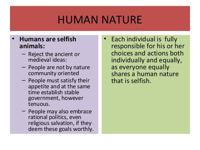 what is machiavellis opinion of humankind and human nature