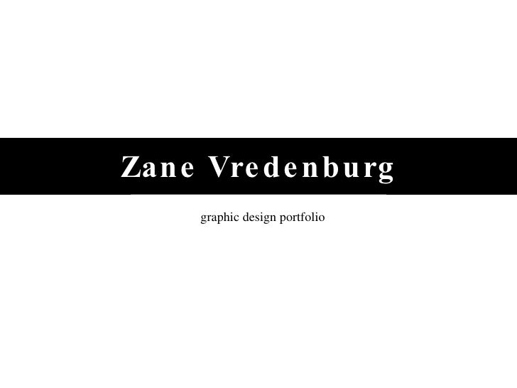 Zane Vredenburg graphic design portfolio