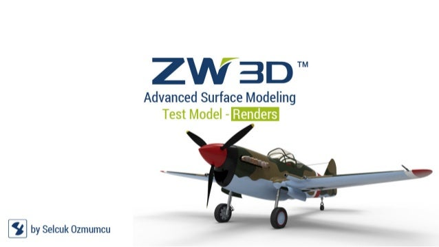 ZW3D Surface Modeling Test: Modified P-40 CAD Model