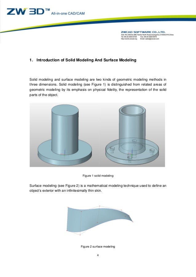 surface modeling in cad pdf