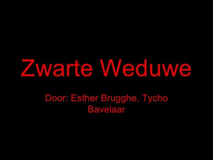 Zwarte Weduwe Door: Esther Brugghe, Tycho Bavelaar