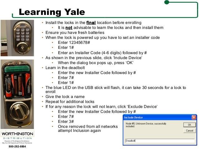 ZWave Lock Programming